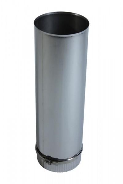 Längenelement 500 mm DN 100 Edelstahl einwandig