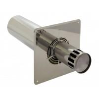 Holetherm Kamin-/ Ofenrohr Konzentrisch Wandanschlusselement DN 100/150 mm edelstahl