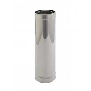 Holetherm Kamin-/ Ofenrohr Konzentrisch Längenelement 500 mm DN 100/150 mm edelstahl