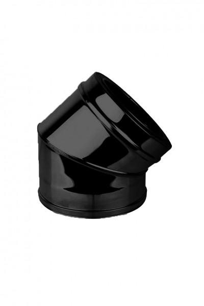 Bogen 45° DN 150 doppelwandig ISOTUBE Plus schwarz