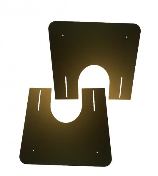 Brandschutzplatte schwarz