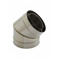 Holetherm Kamin-/ Ofenrohr Konzentrisch Bogen 45° DN 100/150 mm edelstahl