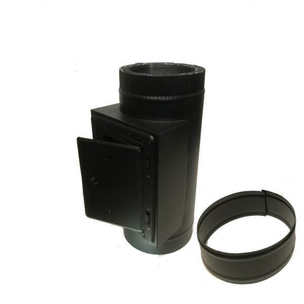 Inspektionsklappe DN 150/200 doppelwandig ISOTUBE Plus schwarz