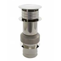 Holetherm Kamin-/ Ofenrohr Konzentrisch Dachanschlusselement DN 100/150 mm edelstahl