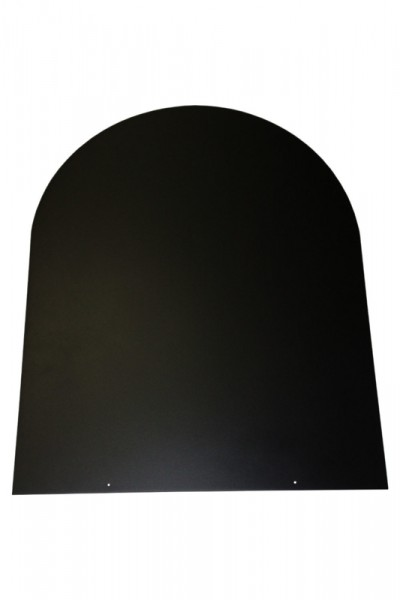 Bodenplatte schwarz Stahl 2 mm Rundbogen 1000 x 1000 - 32-110