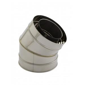Holetherm Kamin-/ Ofenrohr Konzentrisch Bogen 30° DN 100/150 mm edelstahl