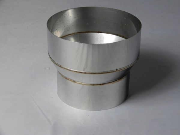 140 - 150 mm Ofenrohr Reduzierung/Erweiterung Edelstahl