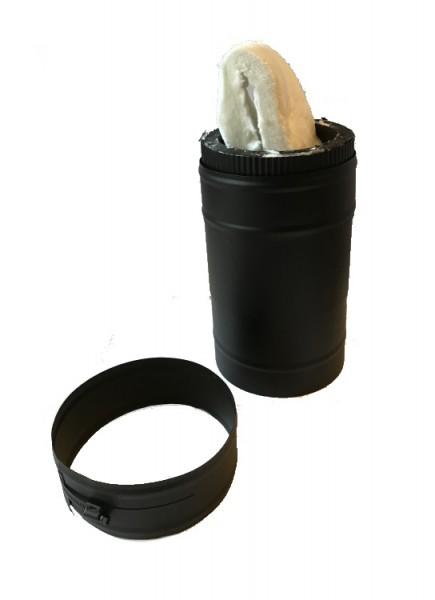 Teleskopelement 257-390 mm DN 150 doppelwandig ISOTUBE Plus schwarz