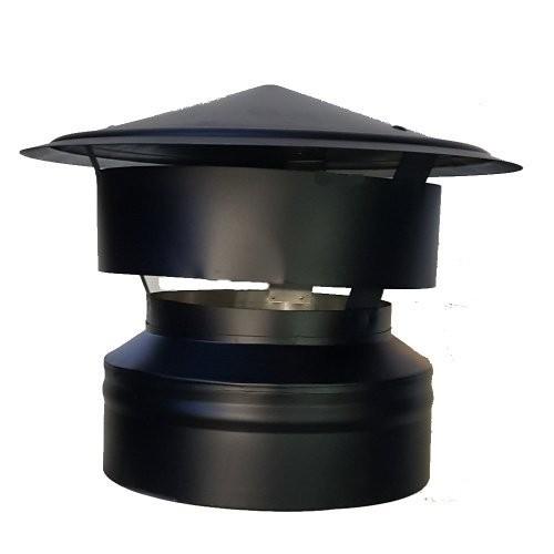 Regenhaube DN 150/200 doppelwandig ISOTUBE Plus schwarz